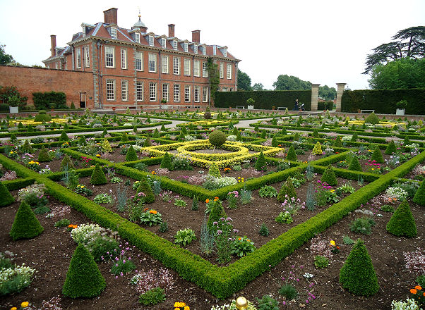 View of the house from the sunken parterre
