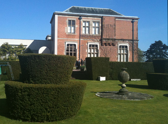 View of the house from the Topiary Garden