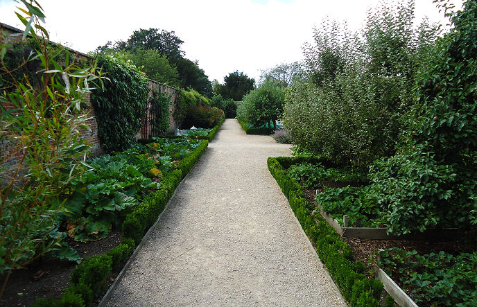 The Walled garden has a wide variety of edible produce surrounded by low box hedging