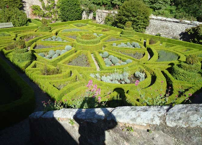 Main parterre showing inter planting