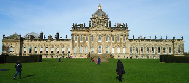 Rear view of Castle Howard from the lawns