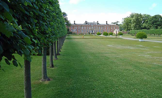 One of the avenues is edged by pleached lime trees