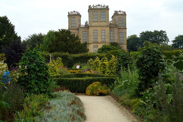 The splendid herb garden at Hardwick Hall