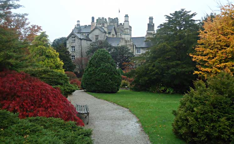 View of Sizergh castle from the grounds