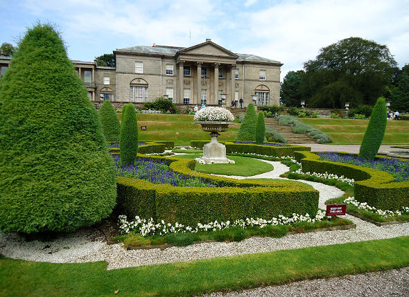 View of Tatton Park house from the parterre