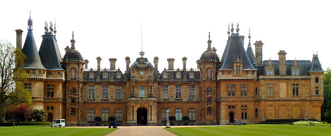 Waddesdon House approached from the main drive