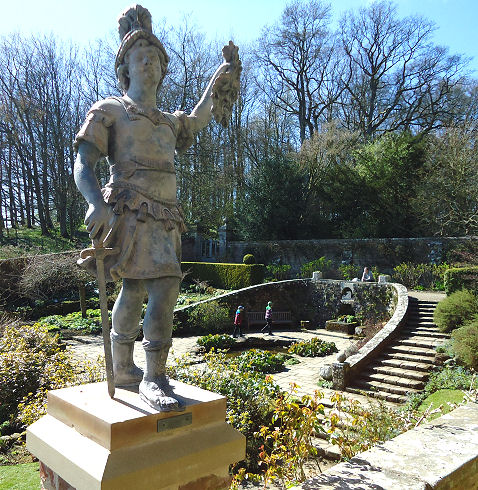 Wallington has a lot of new statues installed which enhance the drama