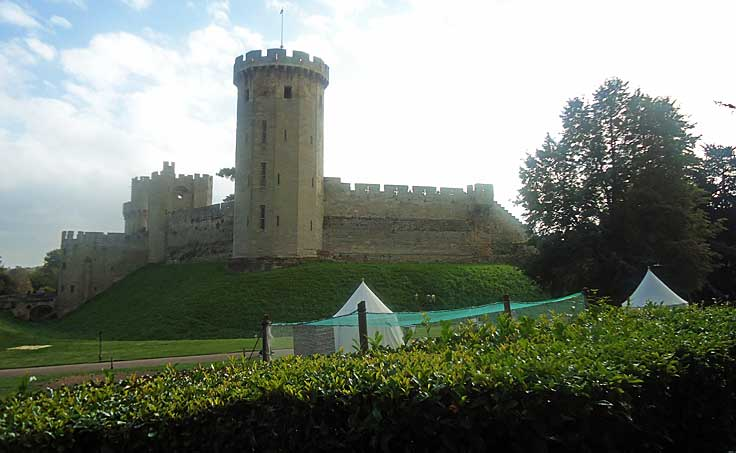 One of the many towers at Warwick Castle