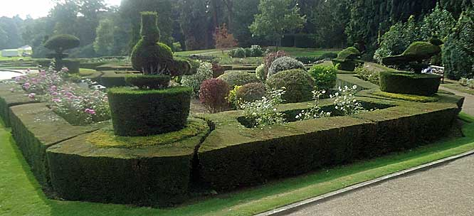 The Parterre with yew specimens of birds