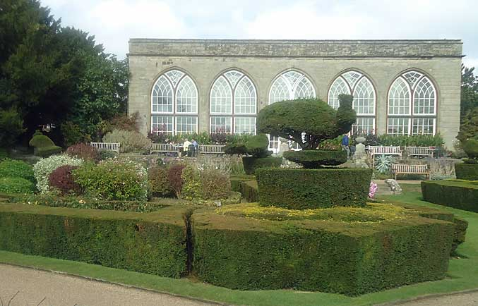 View of the tearooms from the parterre