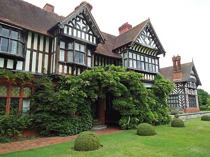 Box Balls along one facade of Wightwick Manor