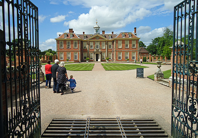 Entrance gates to Hanbury Hall