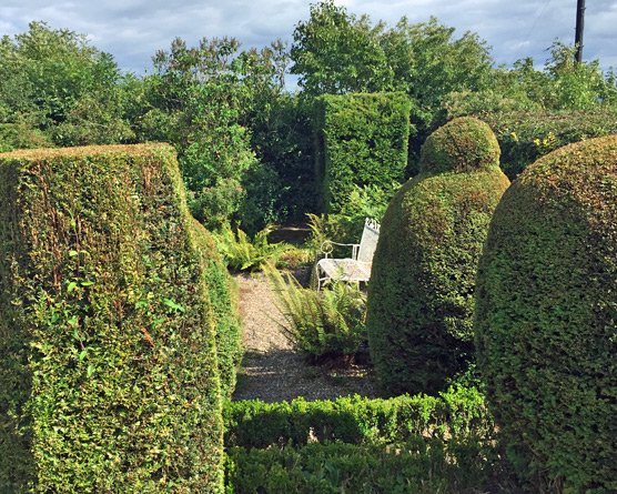 Another view of the Topiary Garden