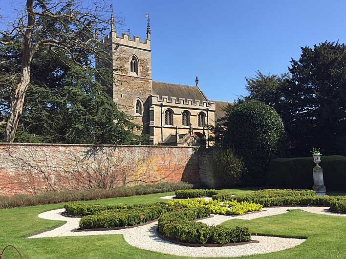 Church in the grounds of Belton House